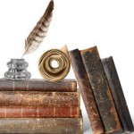 Picture of old books & scrolls