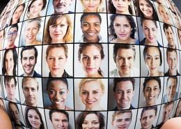 Client Persona Profiles in a globe
