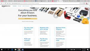 Amazon Business Website