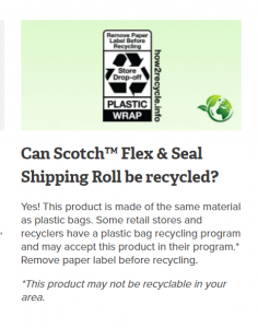 flex and seal recycling statement